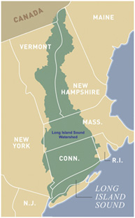 Long Island Sound watershed map